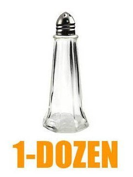 Dozen Chrome Top Tower Salt Pepper Shaker - Wholesale -