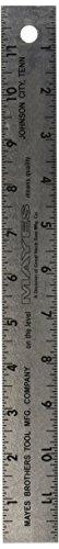 Mayes 10186 Aluminum Ruler, 12-Inch