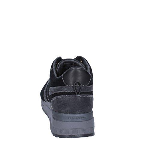 Uomo Fashion Camoscio 40 Nero LUMBERJACKs Pelle Sneakers EU 4EApg