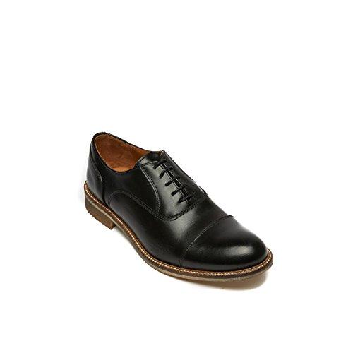Para de Negro de Daniel Zapatos Negro Piel Frank Oxford Mujer Cordones qFf0wOXH