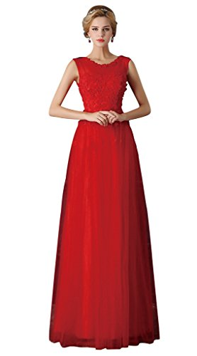 Vimans -  Vestito  - linea ad a - Donna rosso 46