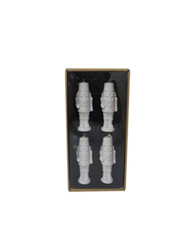 Icon White Lg (Allen + Roth 4-Pack White Nutcracker Ornaments Item # 786093 Model # 6615620)