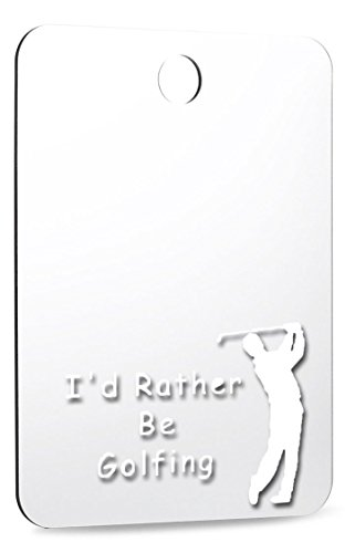 ''I'd Rather Be Golfing'' fog-free shower mirror for fogless shaving in the shower by Great Shave Company