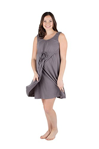 Baby Be Mine 3 in 1 Labor/Delivery/Nursing Hospital Gown Maternity, Hospital Bag Must Have (S/M, Glorious Grey)
