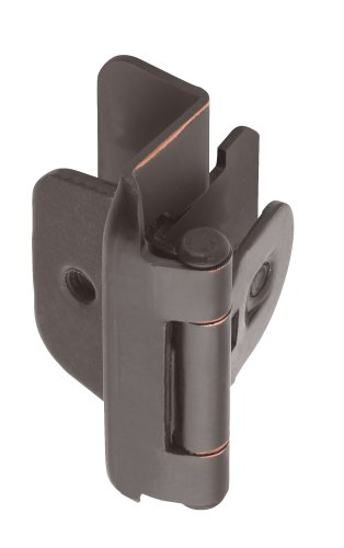 Amerock BPR8704ORB 1/2in (13 mm) Overlay Double Demountable Oil-Rubbed Bronze Hinge - 2 Pack