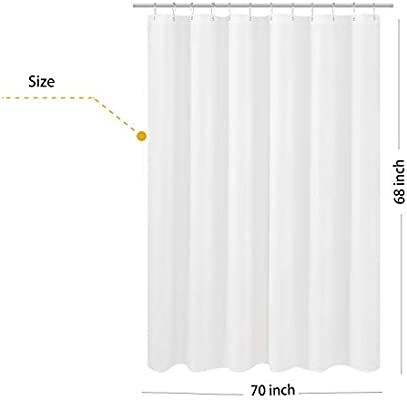 Hotel Qualit NY Home Fabric Shower Curtain Liner Shorter Size 68 Inches Height