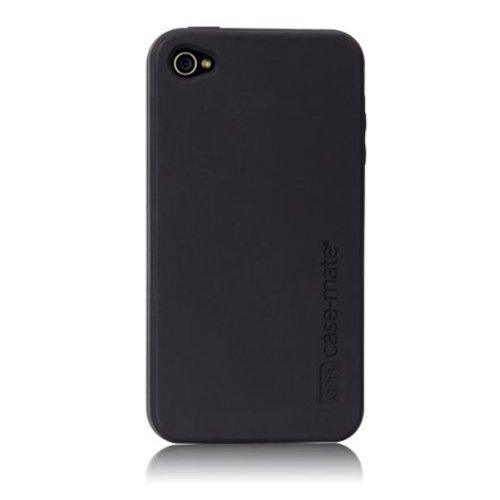 Case-mate CM015481 safe skin Serie hochwertige Silikonschutzhülle für Apple iPhone 4S/4 schwarz