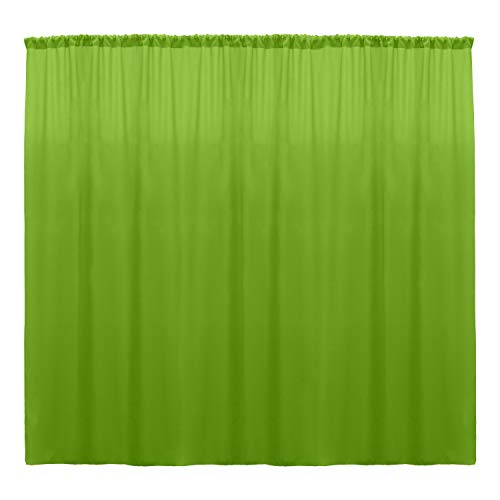 Ultimate Textile -1 Panel- Polyester Backdrop Drape 72 x 96-inch Lime Green (Panels Green Drapery Lime)