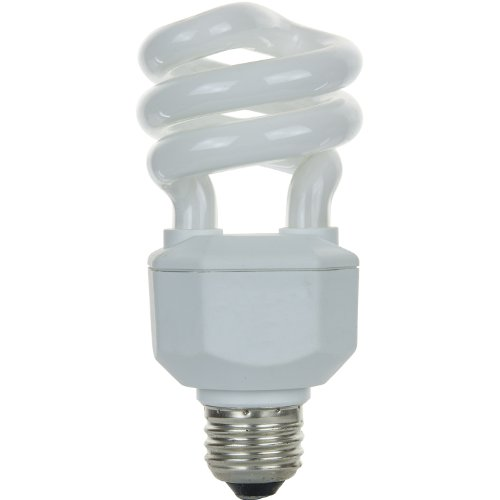 Sunlite SL15/CD/65K 15 Watt Spiral Energy Saving CFL Light Bulb Medium Base Daylight (Cd Spiral Bulb)