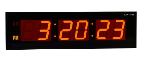DBTech Oversized Digital Orange Clock
