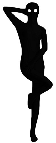VSVO One Piece Zentai Skin-Tight Catsuit with Eyes Open (Kids Large, Black)
