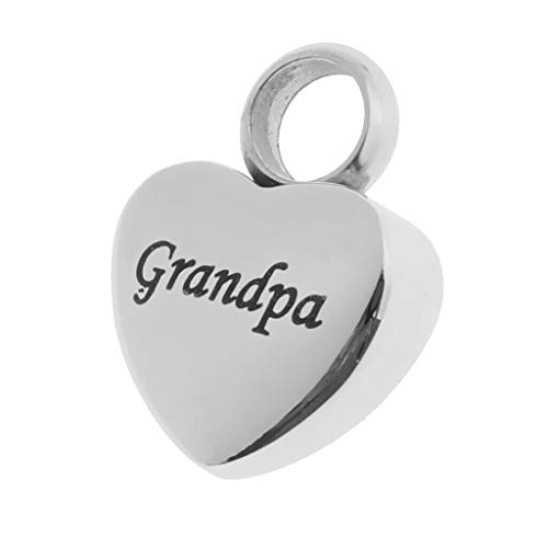 (Heart Pet Urn Ashes Pendant Memorial Ash Keepsake Cremation Necklace Grandpa Necklace Jewelry Crafting Key Chain Bracelet Pendants Accessories Best)