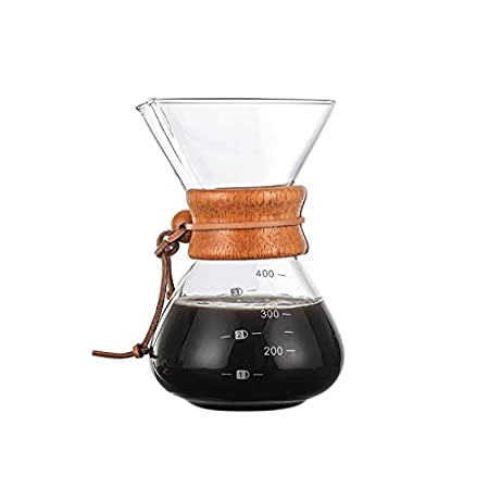 Mallalah Einsteigerset Karaffe Kaffeebereiter Pour Over Kaffeekanne mit Dauerfilter aus Edelstahl 400ml