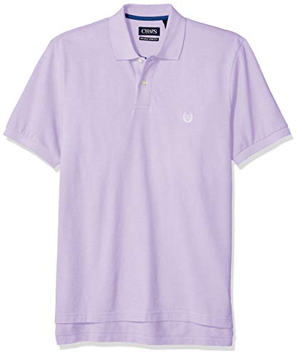 Chaps Men's Classic Fit Cotton Pique Polo Shirt, English Lavender Multi, XL