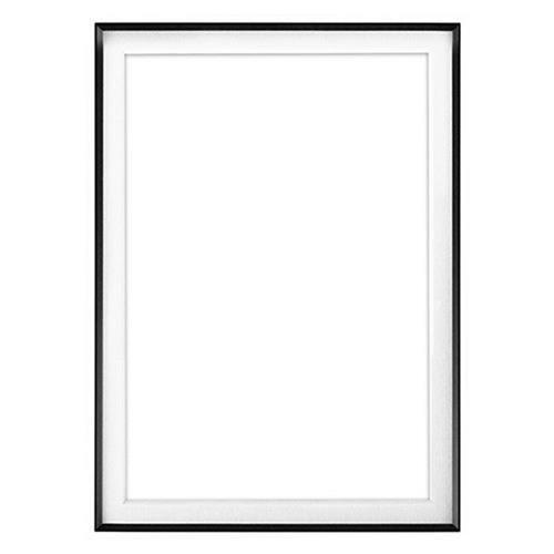 "Fineline Picture Frame Color: Black, Size: 16"" x 20"" Frame/10"" x 15"" Mat -  Framatic, F1620BX52"