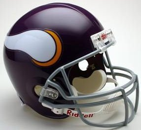Riddell NFL Minnesota Vikings 1961-1979 Throwback Replica Vsr4 Full Size Football Helmet