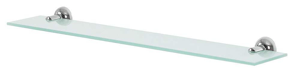 Metallo Cromato E Vetro di Sicurezza Spirella Collezione campagne Grigio Ripiano 60/X 12
