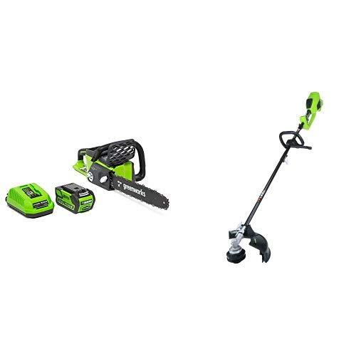 Greenworks 16-Inch 40V Cordless Chainsaw, 4.0 AH Battery Inc