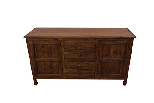 NES Furniture Fine Handcrafted Solid Teak Wood Aubery Cabinet, 59