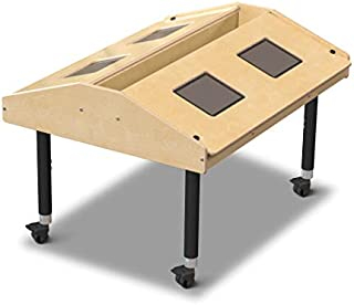 """product image for Jonti-Craft 3397JCM Quad Tablet Table, Mobile (24""""-31"""" Adjustable Height)"""