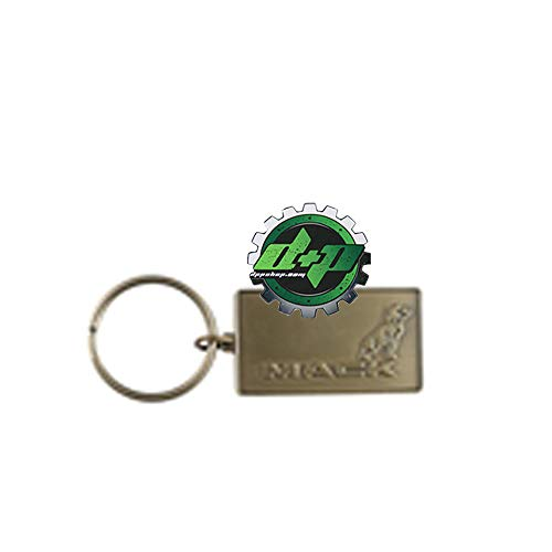 Gold Mack Dog Bulldog Logo Key Chain Emblem Diesel Truck Trucker Gear Bull ()