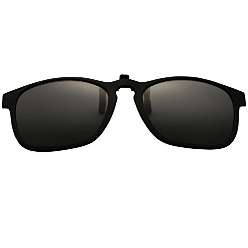 JOLITCHION Classic Driving Clip on Eyewear Flip Up Sunglasses Lens With TR90 Frame Polarized - On Sunglasses Best Clip