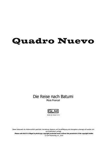Die Reise nach Batumi: sheet music for instruments in Eb upper part (Music Sheet Instrument Eb)