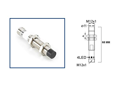RADWELL VERIFIED SUBSTITUTE 872CN10NP12D4SUB Replacement of Allen Bradley 872C-N10NP12-D4, Proximity Sensor - Long Range, Cylindrical, Chrome Plated Brass, UNSHIELDED, 12MM Threaded Body, 10MM Range,