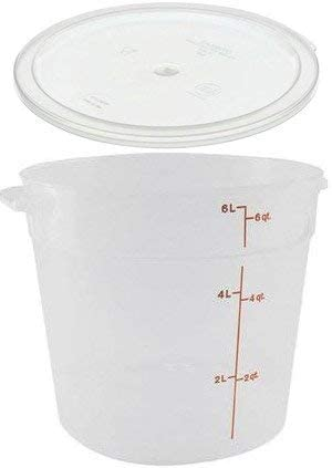 1 Quart with Lid Clear Cambro RFSCW1135+RFSCWC1135 Set