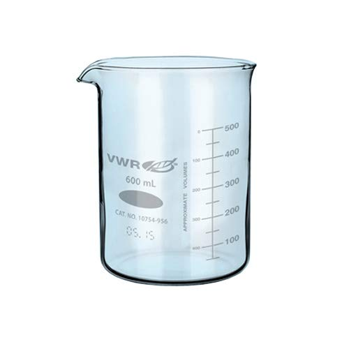Vwr Griffin Beakers - VWR 10754-954 Low Form Griffin Beaker, 25mL-325mL Graduation Range, 400mL Capacity, 77mm OD, 106mm Height (Pack of 12)