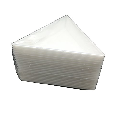 FINE COMMODITIES 20pcs White Triangle Bead Sorting Trays,Magical Tray for Rhinestones for Flipping Flatback Rhinestones