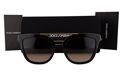 Dolce & Gabbana DG4269 Sunglasses Havana w/Brown Gradient Lens 50213 DG 4269 For - Sunglasses Dolce And Mirrored Gabbana