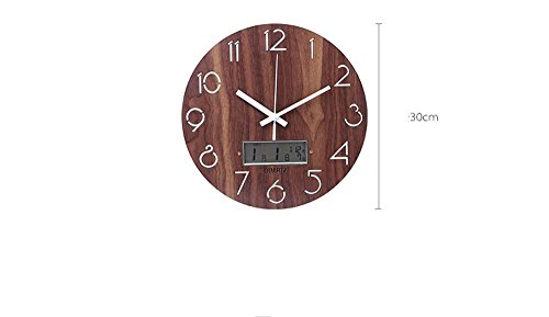 Asdfg Minimalist Style Multifunction Electronic Calendar Family Bedroom A Living Room Wall Clock by Asdfg