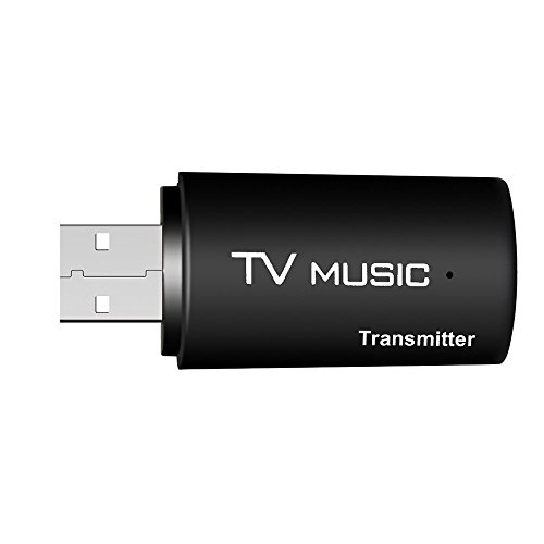(SODIAL(R) USB Bluetooth Audio Transmitter Wireless Stereo Bluetooth Music Box Dongle Adapter for TV MP3 PC Black TS-BT35F05 )