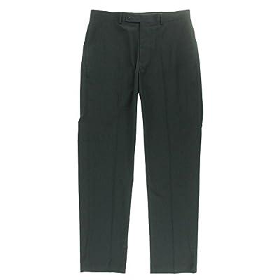 Calvin Klein Slim Fit Pants Charcoal Black Mini-checked New Mens Suit Sep.