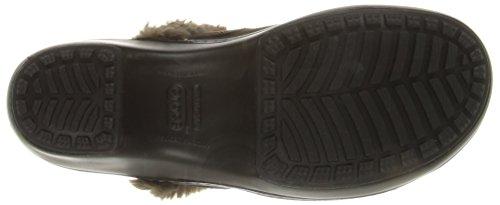 Womens Espresso Black Cobbler Crocs Leather Clog twxqgwnfSW