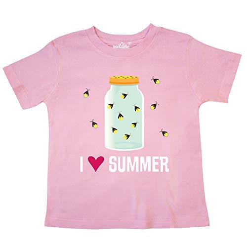 inktastic - I Love Summer Cute Fireflies Toddler T-Shirt 5/6 Pink -