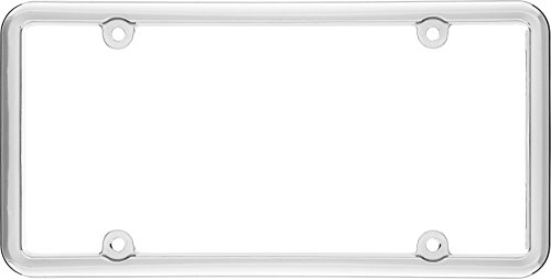 - Cruiser Accessories 20030 Classic Lite License Plate Frame, Chrome