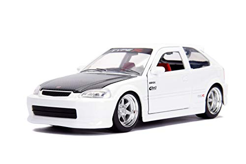 Jada 30720 1:24 JDM - '97 Honda Civic EK Type R Die-cast Vehicle, Glossy White