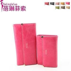 ModernGut New nubuck leather gold love rivet women medium-long wallet Women wallet women wallet purses