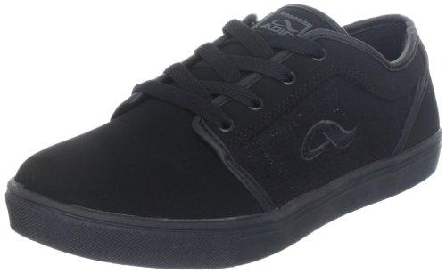 Adio Indy-Kunstleder-Kids 602637 - Zapatillas de skate de cuero nobuck para niños Negro (Schwarz (MONO/CHARCOAL))