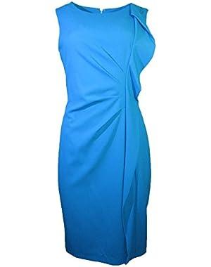 Calvin Klein Sleeveless Teal Ruffle Dress