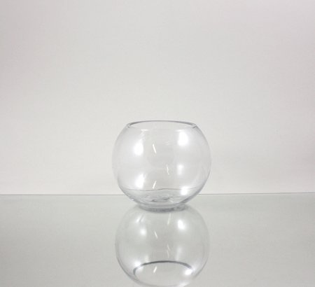 WGV Clear Bubble Bowl Glass Vase, 6-Inch