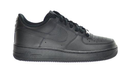 Nike Air Force 1 (GS) Big Kids Sneakers Black 314192-009 (7 M US) ()
