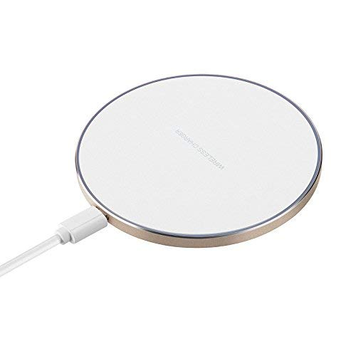 Antye Wireless Charger Aluminum Qi Wireless Charging Pad Station Mat Compatible for iPhone X/8/8 Plus,Samsung Galaxy Note 8,S8/S8 Plus,S7/S7 Edge,S6/S6 Edge Plus and Qi-Enabled Device(No AC Adapter)