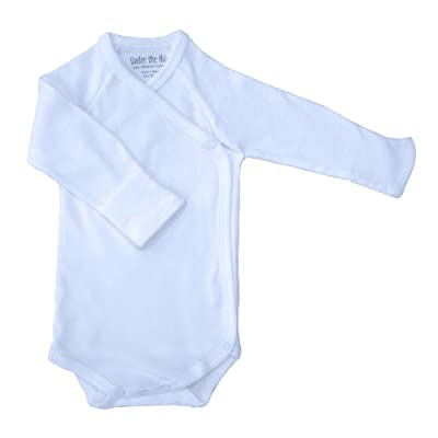 Under The Nile Baby Boys Long Sleeve Side Snap Babybody
