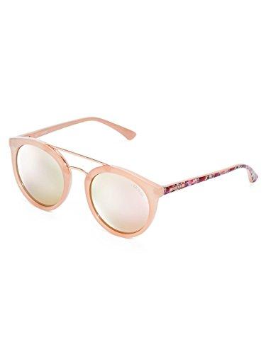 Guess Double pont autour des lunettes de soleil en noir brillant GU7387 01B  52 Pink Gold f3748b6aa1ae
