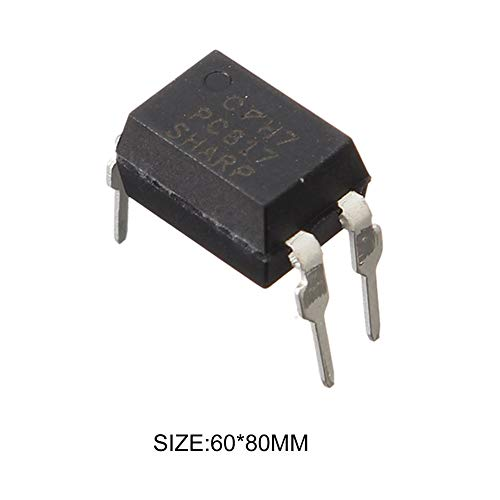 FEKETEUKI Aisladores /ópticos multifuncionales 50pcs Pc817 Optoacoplador Sharp Optical Isolator C Archivo Optoacoplador Dip-4-Black-1 Tama/ño