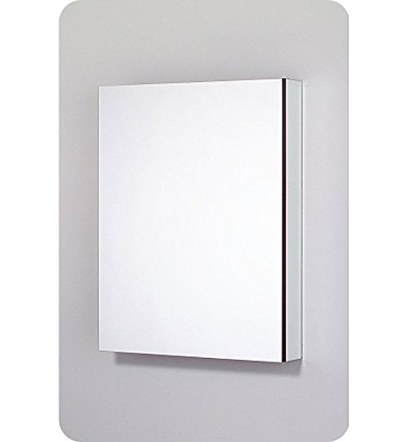 (Robern PLM2430WLE Pl-Series Left-Side Flat Mirror Medicine Cabinet with Outlet, White)