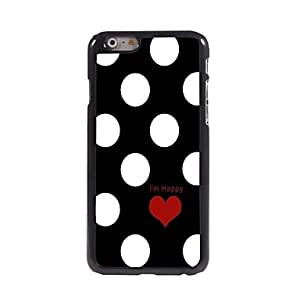 QHY Lovely Red Love-Heart Pattern Aluminum Hard Case for iPhone 6 Plus
